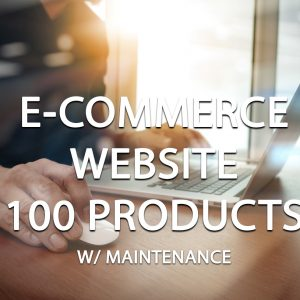E-Commerce Website Package (100 Products) With Maintenance