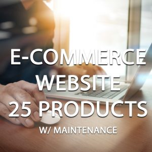 E-Commerce Website Package (25 Products) With Maintenance