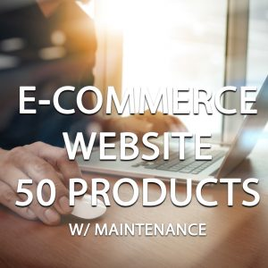 E-Commerce Website Package (50 Products) With Maintenance