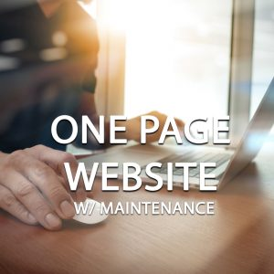 One Page Website With Maintenance